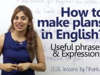 How to make plans in English?