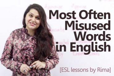 14 most often misused words in English.