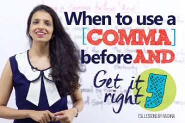 When to use a 'COMMA' before 'AND'