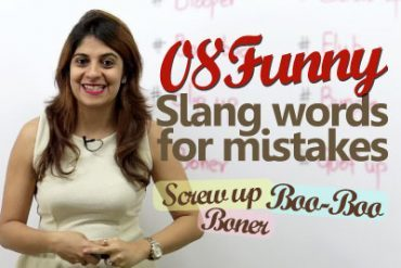 08 Funny English Slang Words for Mistakes.