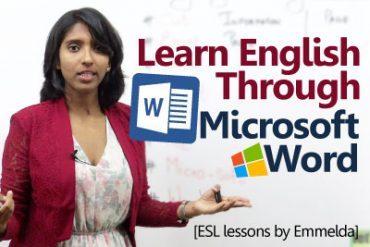 Learn English through Microsoft word.