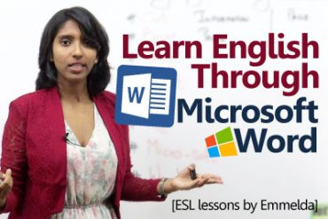 Learn English through Microsoft word.