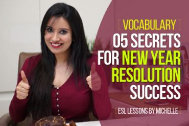 5 secrets for New Year Resolution Success – ESL Vocabulary