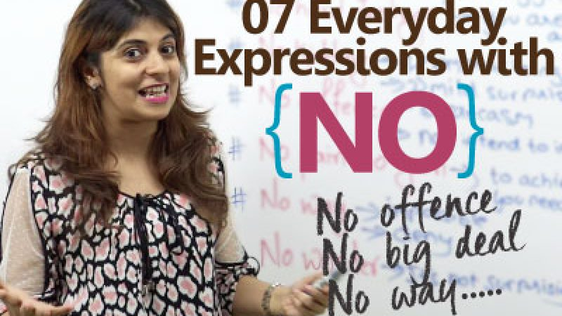 Learn English expressions with NO