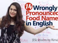 14 Wrongly pronounced food names in English.