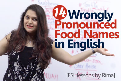English pronunciation lesson to learn food names