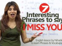 "07 interesting ways to say ""I Miss You"""