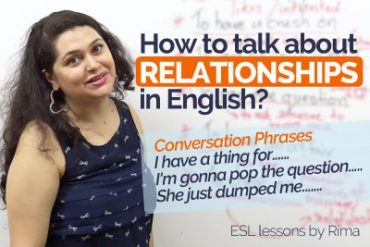 How to talk about Relationships in English?