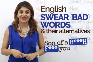 English Swear words/Bad words & their alternatives