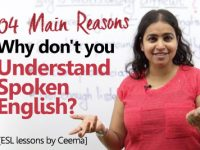 Why don't you understand spoken English? – Learn English the right way.