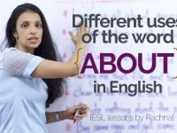 Different uses of 'ABOUT' in English