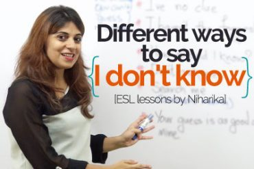 Smart ways to say 'I don't Know'