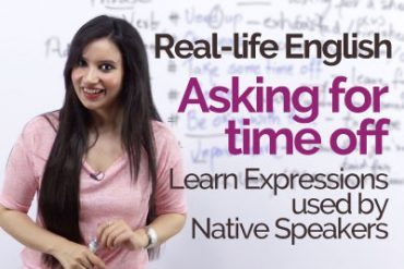 Real life English speaking practice – Asking for time off