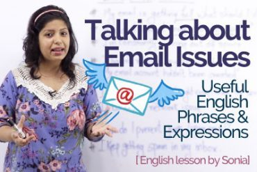 Talking about 'Email Issues' at work – English phrases & Expressions