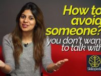 How to avoid someone, you don't want to talk with? Public speaking tips