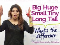 Difference between Big, Small, Long, Short, Tall, Huge, and Tiny