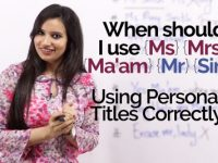 When should I use Ms, Mrs, ma'am, Mr? Improve your English writing skills