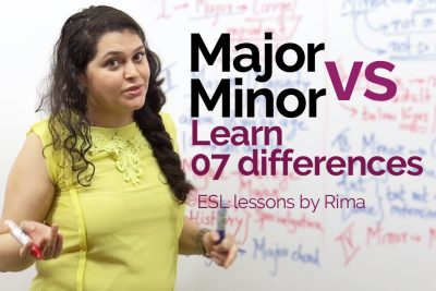 Difference between the words major and minor - Improve your English speaking