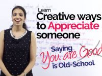 Creative ways to APPRECIATE someone