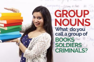 English Grammar lesson – Group Nouns / Collective Nouns