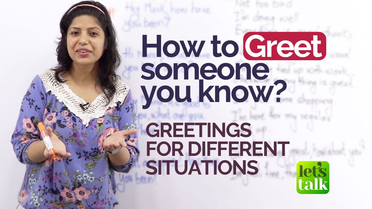 English Lessons For Beginners Greetings In English How To Greet