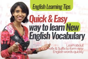 Quick & Easy way to learn new English vocabulary.