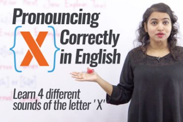 How to pronounce 'X' correctly in English?