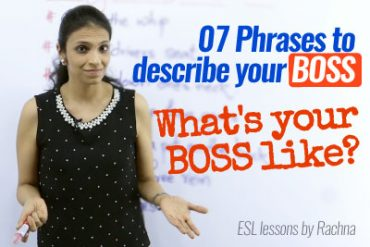 English phrases to describe your 'BOSS' – Free English Speaking Classes Online