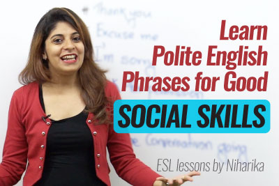 Learn Polite English phrases for Good Social Skills from Lets Talk English Speaking Institute in Mumbai
