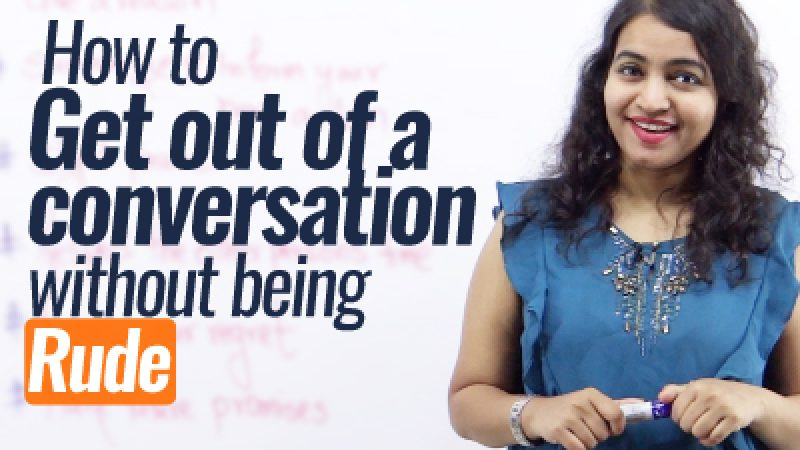 How To Get Out Of A Conversation Without Being Rude? Public Speaking Tips