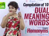 Compilation of 10 Dual Meaning English Words (Homonyms) – Free Spoken English lessons (ESL)