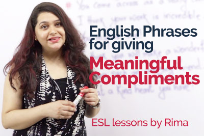 Meaning Compliments - Learn Unique English Phrases