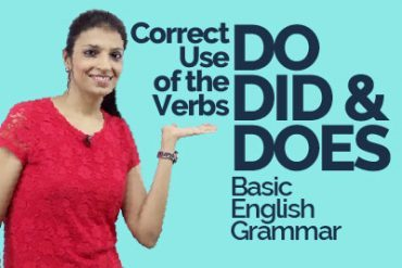 Using the verb 'DO' in many different ways.