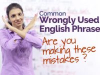 Common Wrongly used English phrases.