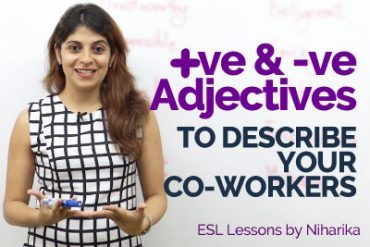 Positive & Negative Adjectives to describe your colleagues – Business English Vocabulary