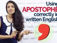 How to use an APOSTROPHE correctly in written English?