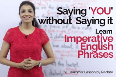 Imperative English sentences in passive voice | Say 'YOU' without saying it