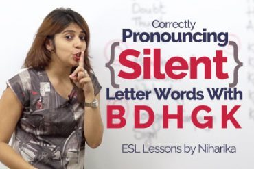Pronouncing Silent Letter Words in English.
