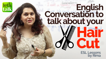English Conversation Lesson to talk about 'HAIRCUT'