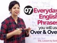 Top 7 Everyday English phrases & Expressions you will use over & over – Learn English | Real Life English