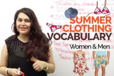 Summer Clothing Vocabulary – Men & Women