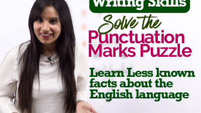 Punctuation Marks   English Grammar class to improve writing skills   Facts about t English Language