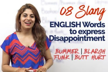 Slang words to express disappointment.