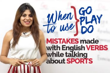 Mistakes made in English with verbs DO, GO, PLAY while talking about Sports