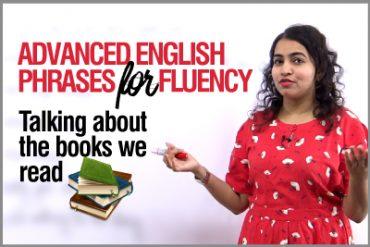 Advanced English Phrases to speak fluently | Talking about Books