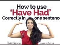 How to use 'HAVE HAD' correctly in one sentence? English Grammar Rules Lesson for Beginners.
