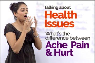 Common English Mistakes made using Ache, Pain, Hurt & Sore | ESL Vocabulary