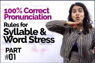 Syllable & Word Stress rules for 100% Correct Pronunciation | Pronounce English Words Clearly