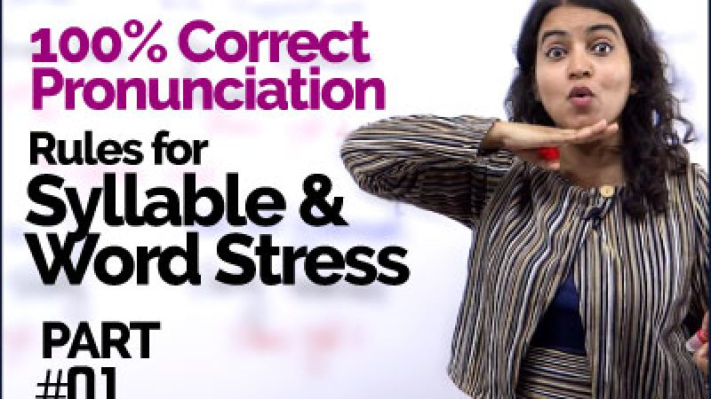 Syllable & Word Stress rules for 100% Correct Pronunciation   Pronounce English Words Clearly