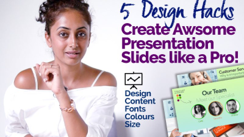 How to design Awesome Presentation Slides without Power Point & Keynote